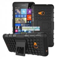 Силиконовый чехол экстрим защита для Microsoft Lumia 535 Черный