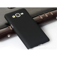 Пластиковый матовый непрозрачный чехол для Samsung Galaxy Grand Prime Черный