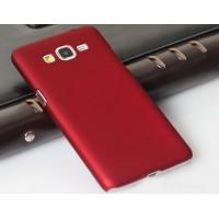 Пластиковый матовый непрозрачный чехол для Samsung Galaxy Grand Prime Красный