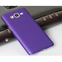 Пластиковый матовый непрозрачный чехол для Samsung Galaxy Grand Prime Фиолетовый