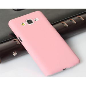 Пластиковый матовый непрозрачный чехол для Samsung Galaxy Grand Prime Пурпурный