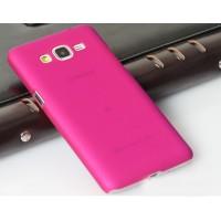 Пластиковый матовый непрозрачный чехол для Samsung Galaxy Grand Prime Розовый