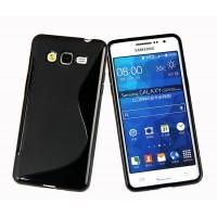Силиконовый S чехол для Samsung Galaxy Grand Prime Черный