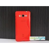 Силиконовый S чехол для Samsung Galaxy Grand Prime Красный