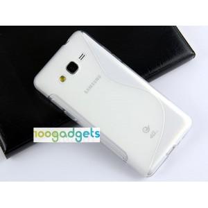 Силиконовый S чехол для Samsung Galaxy Grand Prime Белый