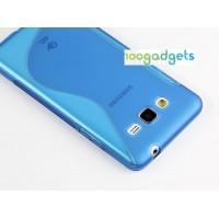 Силиконовый S чехол для Samsung Galaxy Grand Prime Синий