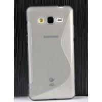 Силиконовый S чехол для Samsung Galaxy Grand Prime Серый