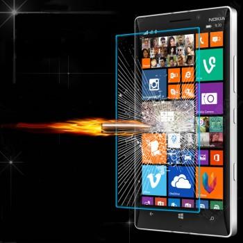 Ультратонкое износоустойчивое сколостойкое олеофобное защитное стекло-пленка для Nokia Lumia 930