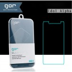 Ультратонкое износоустойчивое сколостойкое олеофобное защитное стекло-пленка для Alcatel One Touch Alpha