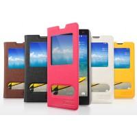 Чехол-книжка с окошком и свайпом для Huawei Honor 3c