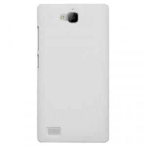 Пластиковый чехол Metallic для Huawei Honor 3c Белый