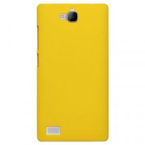 Пластиковый чехол Metallic для Huawei Honor 3c Желтый
