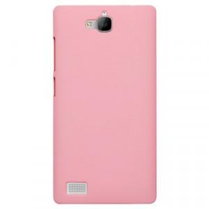 Пластиковый чехол Metallic для Huawei Honor 3c Розовый