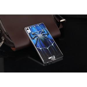 Двухкомпонентный чехол с металлическим бампером и поликарбонатной накладкой с принтом для Prestigio Grace