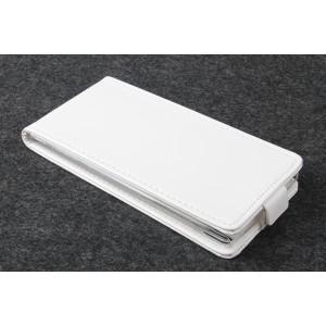 Чехол вертикальная книжка на силиконовой основе с магнитной застежкой для Fly IQ4516 Tornado Slim Octa Белый