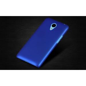 Пластиковый матовый непрозрачный чехол для Meizu M1 Note Голубой