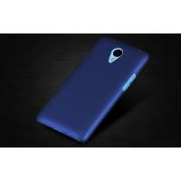 Пластиковый матовый непрозрачный чехол для Meizu M1 Note Синий