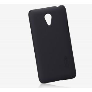 Пластиковый матовый нескользящий премиум чехол для Meizu M1 Note Черный