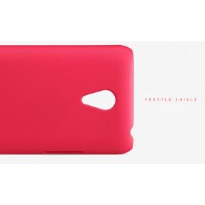 Пластиковый матовый нескользящий премиум чехол для Meizu M1 Note Красный