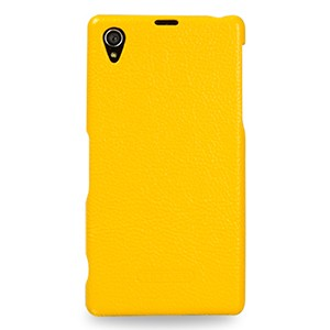 Кожаный чехол накладка (нат. кожа) серия Back Cover для Sony Xperia Z1