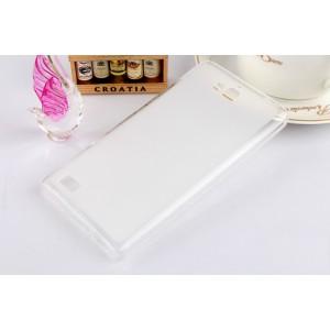 Силиконовый полупрозрачный чехол для Huawei Honor 3c Белый