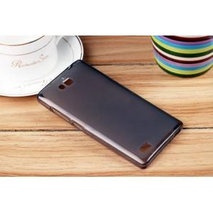 Силиконовый полупрозрачный чехол для Huawei Honor 3c Черный