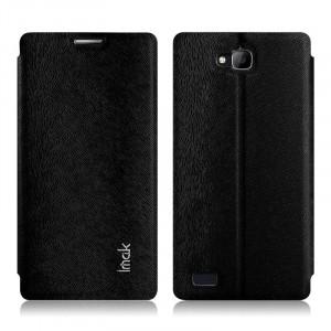 Текстурный чехол флип-подставка серии Imak для Huawei Honor 3c Черный