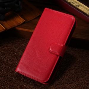 Чехол портмоне подставка с защелкой для Alcatel One Touch Pop C7 Красный