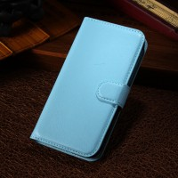 Чехол портмоне подставка с защелкой для Alcatel One Touch Pop C7 Голубой