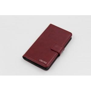 Чехол портмоне подставка на пластиковой основе с магнитной защелкой для Alcatel One Touch Pop C7
