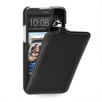 Кожаный чехол вертикальная книжка (нат. кожа) для HTC Desire 516