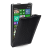 Кожаный чехол вертикальная книжка (нат. кожа) для Nokia Lumia 830
