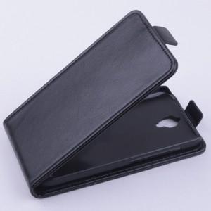 Чехол вертикальная книжка с магнитной застежкой для Alcatel One Touch Idol 2 mini Черный