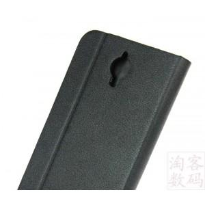 Текстурный чехол флип подставка с застежкой и внутренними карманами для Alcatel One Touch Idol 2 mini Черный