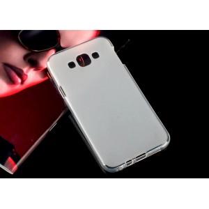 Силиконовый матовый полупрозрачный чехол для Samsung Galaxy E7 Белый