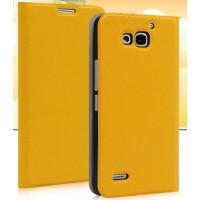 Чехол флип серии Colors для Huawei Honor 3x Желтый