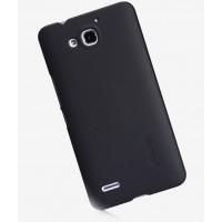 Премиум матовый пластиковый чехол для Huawei Honor 3x Черный