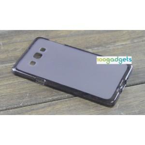 Силиконовый матовый полупрозрачный чехол для Samsung Galaxy A7 Черный