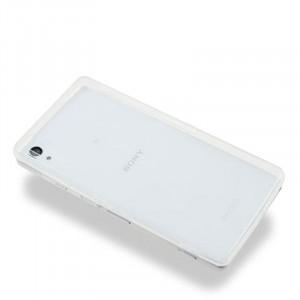 Силиконовый глянцевый транспарентный чехол для Sony Xperia Z2