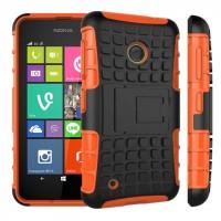 Силиконовый чехол экстрим защита с функцией подставки для Nokia Lumia 530 Оранжевый