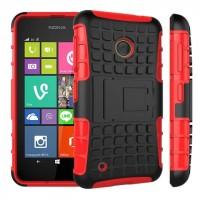 Силиконовый чехол экстрим защита с функцией подставки для Nokia Lumia 530 Красный