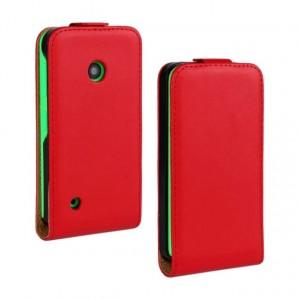 Чехол вертикальная книжка на пластиковой основе с магнитной застежкой для Nokia Lumia 530