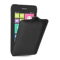 Кожаный чехол вертикальная книжка (нат. кожа) для Nokia Lumia 530 (изготовление на заказ)