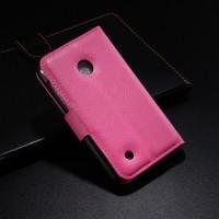 Чехол портмоне подставка с защелкой для Nokia Lumia 530 Пурпурный