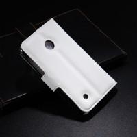 Чехол портмоне подставка с защелкой для Nokia Lumia 530 Белый
