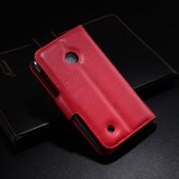 Чехол портмоне подставка с защелкой для Nokia Lumia 530 Красный