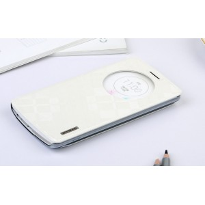 Чехол смарт флип-подставка серии Rock для LG Optimus G3 Белый