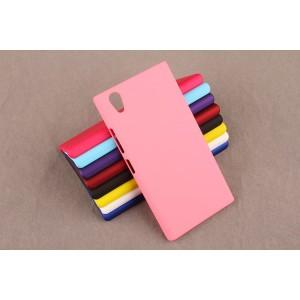 Пластиковый матовый непрозрачный чехол для Lenovo P70 Розовый