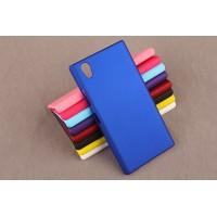 Пластиковый матовый непрозрачный чехол для Lenovo P70 Синий