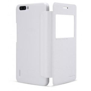 Чехол флип на пластиковой основе с магнитной застежкой серия Colors для Huawei Honor 6 Plus Белый